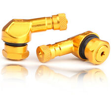 2x Motorrad Alu Winkelventil gold 11,3mm Ventile Eckventil  KEIN CHINA MÃœLL !