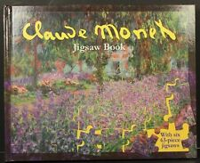 2002 Claude Monet Jigsaw Puzzle Book, Incl 6-63 Piece Puzzles from Artwork