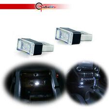 2Pcs White Usb Plug-In Miniature Led Interior Ambient Car Lighting Kit Universal(Fits: Neon)
