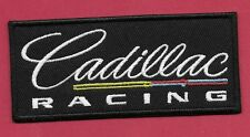 "New Cadillac Racing 'Black' 1 3/4 X 4""' Inch  Iron on Patch Free Shipping"