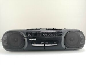 Panasonic RX– FT530 Portable Twin Deck Stereo Radio Cassette Player Recorder