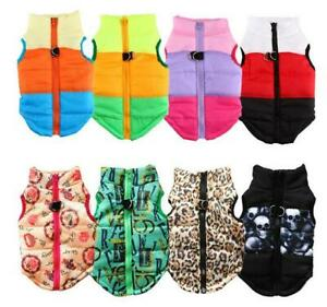 Warm Dog Clothes For Small Dog Windproof Winter Pet Dog Vest Puppy Outfit