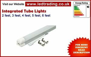 LED T8 Integrated Tube Light (1,2,3,4)ft complete  with fitting, ceiling light