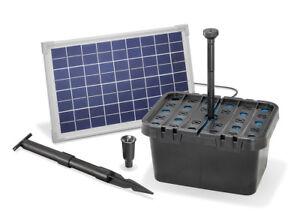 Solar Teichfilter Set 10/610 Solarpumpe Gartenteich Pumpenset esotec 101066