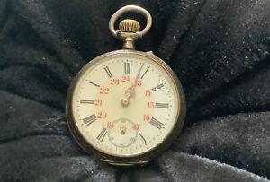 Alte Silbertaschen Uhr Galonne 800 Silber