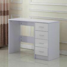 Homcom 02-0704 High Gloss 4 Drawer Vanity Dressing Table - White