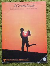 A CERTAIN SMILE - Sammy Fain / Paul Webster: United Artists Reprint P.V.G.