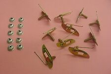 10x Fits Cadillac Universal Moulding Fasteners 1-3/4 x 9/16 Clips Bolts 789 NOS