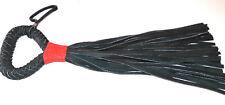 Peitsche 32zügig weiches Leder 65cm schwarz