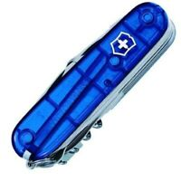 VICTORINOX SWISSCHAMP SWISS ARMY POCKET KNIFE TRANSLUCENT TRANSPARENT SAPPHIRE