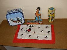 Ensemble DISNEY ANCIEN : Mètre pour enfants + domino ESTRELA + foulard MICKEY...