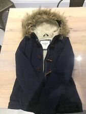 Abercrombie and Fitch Ladies Navy Parka Jacket - Size Small