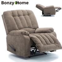 Oversize Recliner Chair Overstuffed Sofa Heavy Duty Material Soft Padded Design