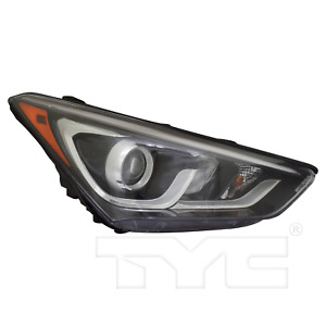 Halogen Headlight Lamp for 17-18 Hyundai Santa Fe Sport w/LED Accent Passenger