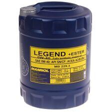0W-40 Motoröl 10 Liter Legend+Ester API SN/CF ACEA A3/B3/B4 MB 229.3 Motor Öl