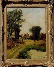 Düsseldorfer  Jean Coune 1900-1963, Bauernhof  Wandbild /Professor Liesegang xx