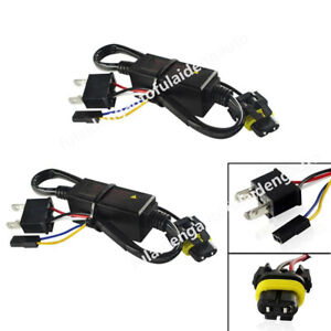2x Easy Relay Harness For H4 9003 Hi/Lo Bi-Xenon HID Bulbs Wiring Controllers