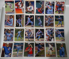 1992 Upper Deck UD Montreal Expos Team Set of 24 Baseball Cards