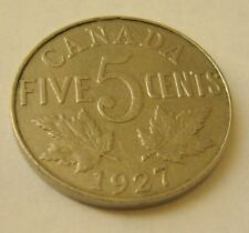 1923 to 1936 Canada 5 Cent Coin          Your choice of 1 from list