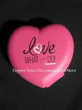 "Tupperware New Consultant Pink HEART CASE CONTAINER ""Love What You Do"""