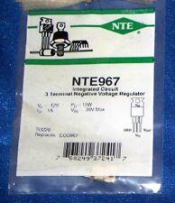 NTE967 INTEGRATED CIRCUIT VOLTAGE REGULATOR NEGATIVE 12V 1A TO220