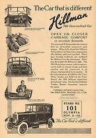 1923 Original Vintage Hillman Motor Car Automobile Art Print Ad