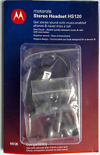 Original Motorola Stereo Headset HS120 One-Touch