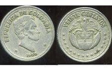 COLOMBIE 20 centavos   1959  ( bis )