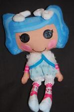 """Lalaloopsy Blue Hair Mittens Fluff N Stuff Cloth 9"""" Doll Button Eyes Stitch"""