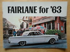 FORD FAIRLANE orig 1963 USA Mkt Prestige Brochure 500 Hardtop Ranch Wagon Squire