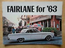 FORD FAIRLANE orig 1963 USA Mkt prestige brochure 500 Hardtop Ranch Wagon Squire