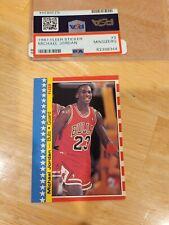 Michael Jordan 1987-88 Fleer #2 Sticker PSA MINSIZERQ 🔥 🔥 🔥 LQQKIE!!!!!