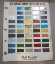 1970 Buick Cadillac Chevrolet Oldsmobile Pontiac Color Chip Sheet Brochure