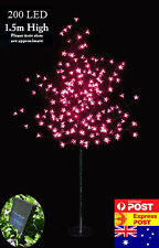 200 LED 1.5M Pink Cherry Blossom Solar Christmas Outdoor Tree