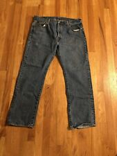 Levi's 501 Mens Jeans Straight Leg Blue Jean Size 36x30 Button Fly Meas. 36x30