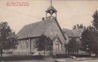 Postcard St James RC Church Penn's Grove NJ
