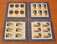 Rumänien 1998 Mi.5325-28 KB ** Nachtaktive Vögel,Eulen,Tiere,Night birds,Owls