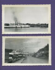Lot of Two (2) Steamboat/Steamer 'Kingston' Photos - Canadian Steamship Lines