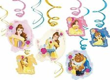 Disney Beauty and the Beast Belle Swirls danglers 12ct decoration party Birthday