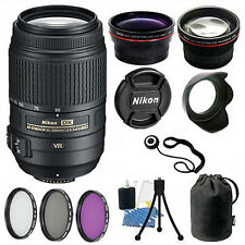 Nikon 55-300 VR Lens Kit for Nikon D3200 D3300 D5200 D5300 Digital SLR  Camera