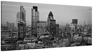 London City Skyline Sunset The Gherkin Tower Canvas Wall Art Panorama Print