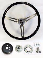"""1964-1966 Buick Skylark GS Black Wood Steering Wheel High Gloss Grip 15"""""""