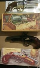 Two Vintage Pistols W/ Boxes Avon Shave Empty Perrerbox & Philly Derringer.