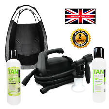 Professi Spray Tan Starter Kit - HVLP Machine, PopUp Tent, 2x Tanning Solutions