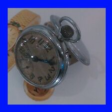 WW1 Chrome & Enamel German Junghans Alarm Pocket Watch 1918