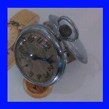 WW1 Chrome & Enamel German Junghans Alarm Pocket Watch 1918