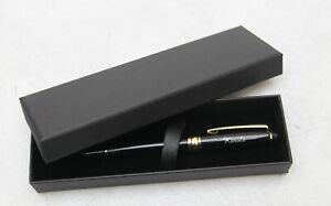 Schöner 0,5mm Tinten-Roller - schwarz schreibend mit Gravur in Geschenkbox