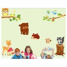 Forest Animals Kids Toys Nursery Smashed Wall Decal 3D Art Stickers Vinyl Room