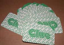 1985 Clue Vcr Mystery Game 28 Green Clue Cards (b)