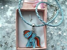 RAINBOW DASH MY LITTLE PONY 16 INCH BLUE LEATHERETTE 2 TO 4  YEAR GIFT BOX PARTY